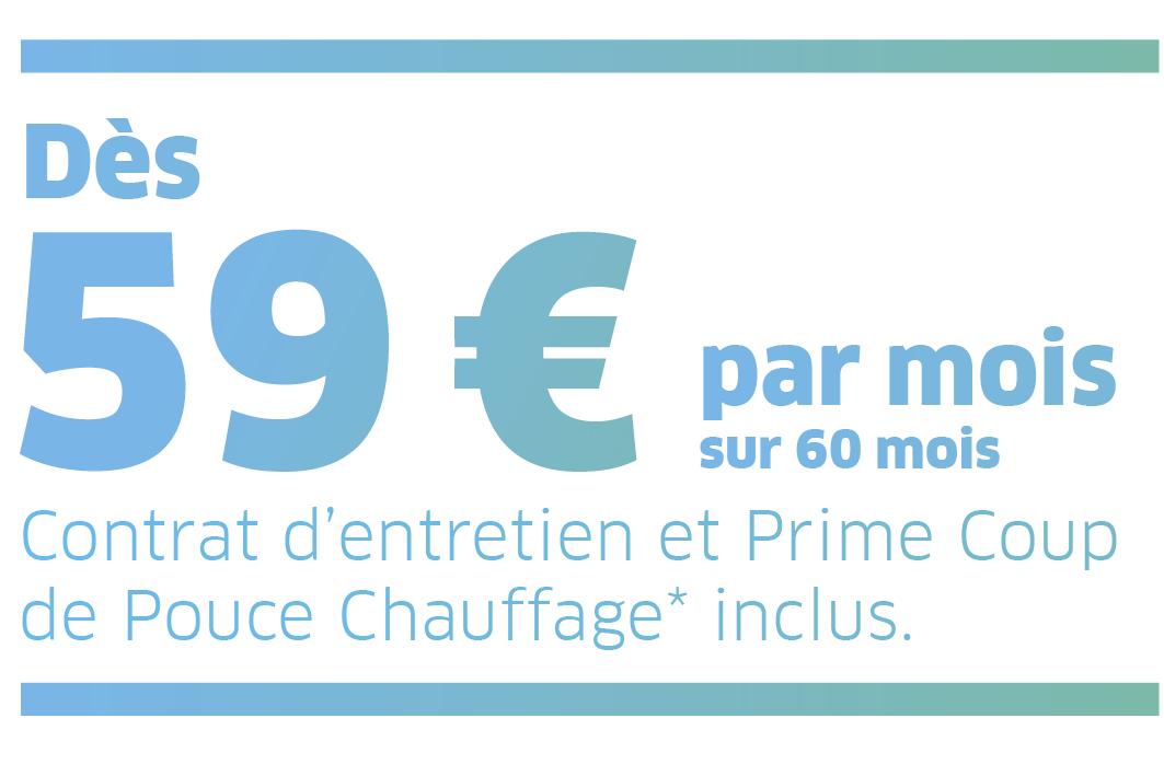 Bandeau 59€ par mois Eideris