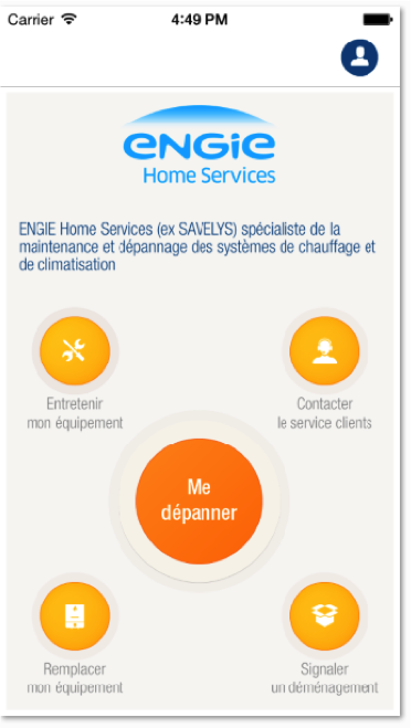 Appli mobile ENGIE Home Services