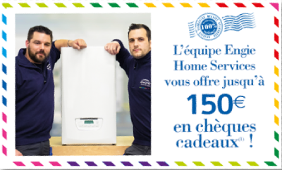Promotion chaudiere 150€ offerts
