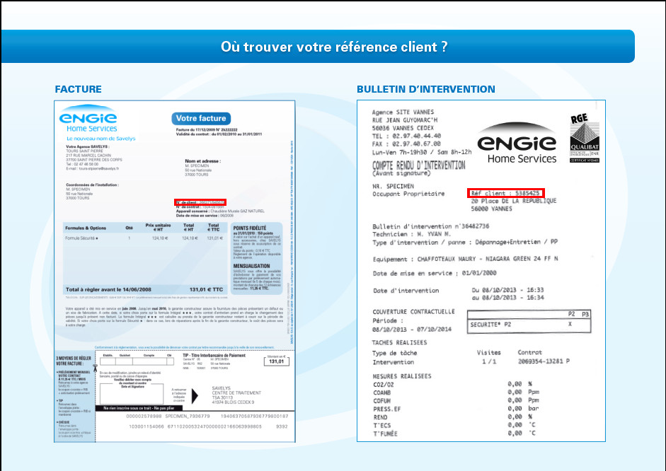 Your client ID is located on your Engie bill or intervention report.